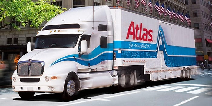 Atlas truck doing Interstate moving service for InterWest
