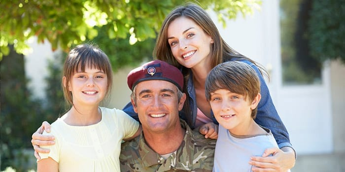 A military family prepared for moving with InterWest
